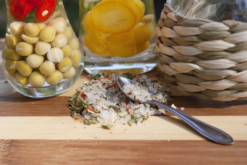 μαριναρισμένο λαχανικό καρυκευμάτων στοκ φωτογραφία