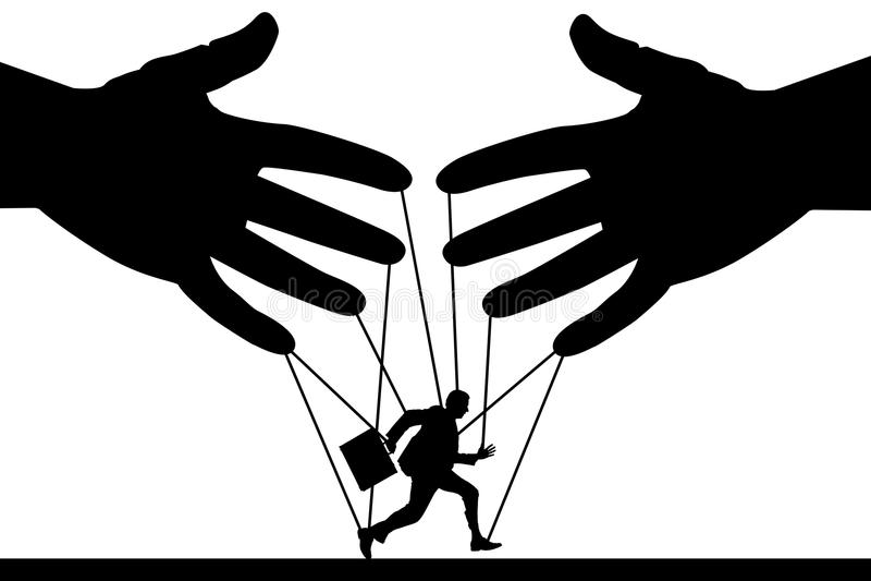 Μαριονέτα σε μια συμβολοσειρά ελεύθερη απεικόνιση δικαιώματος