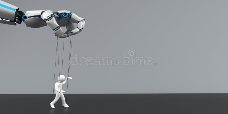 Μαριονέτα χεριών ρομπότ διανυσματική απεικόνιση
