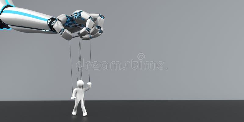 Μαριονέτα χεριών ρομπότ ελεύθερη απεικόνιση δικαιώματος