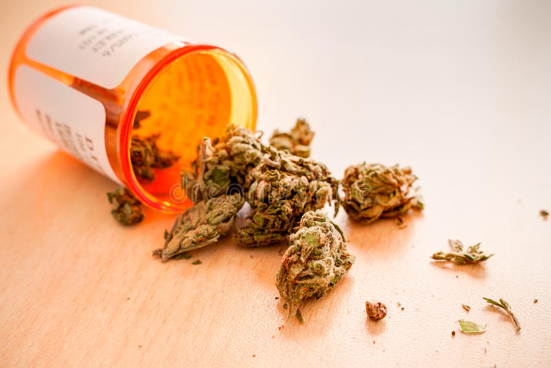 Μαριχουάνα για τον ιατρικό σκοπό στοκ φωτογραφίες