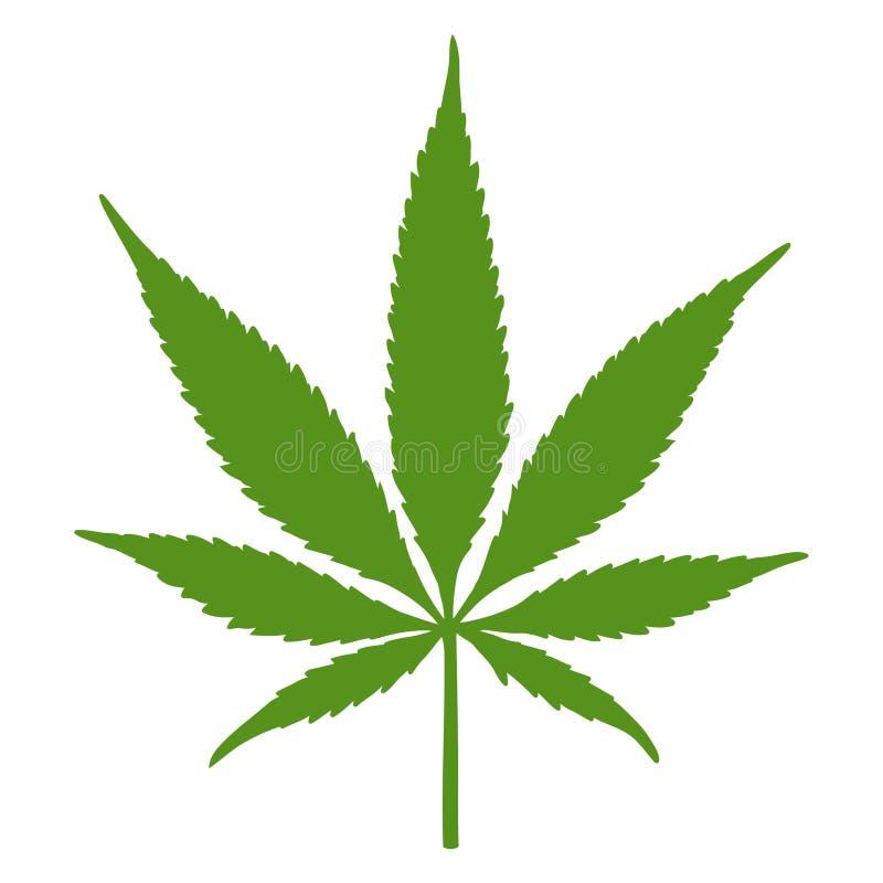 Μαριχουάνα φύλλων καννάβεων απεικόνιση αποθεμάτων