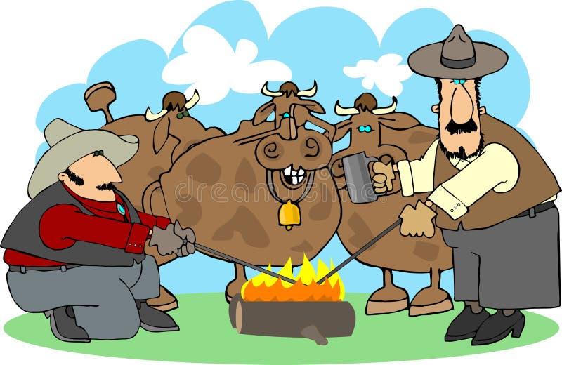 μαρκάροντας βοοειδή ελεύθερη απεικόνιση δικαιώματος