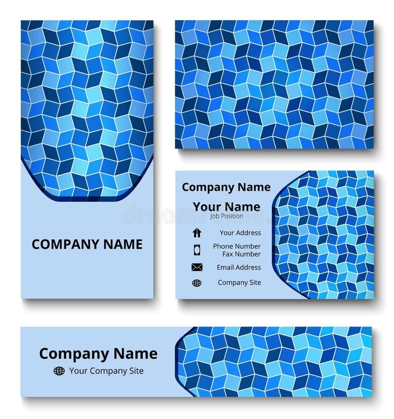 Μαρκάροντας εξάρτηση σχεδίου με τη διακοσμητική διακόσμηση των μπλε και άσπρων σκιών Εταιρικό πρότυπο ταυτότητας ασφαλίστρου MO ε ελεύθερη απεικόνιση δικαιώματος