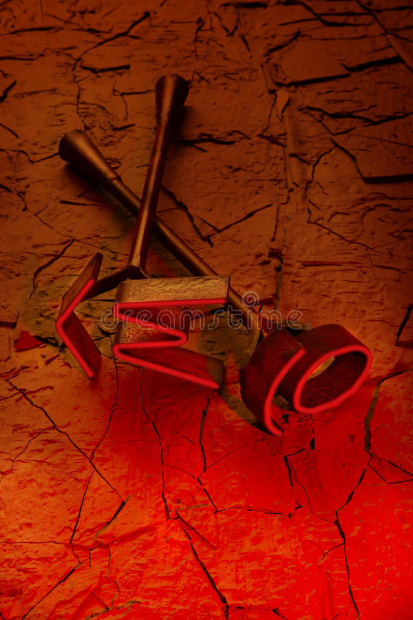 μαρκάροντας καυτό κόκκιν&omic στοκ φωτογραφία