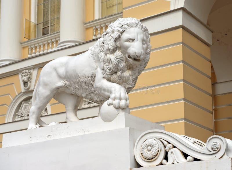 Μαρμάρινα λιοντάρια (λιοντάρια Medici) στοκ εικόνες