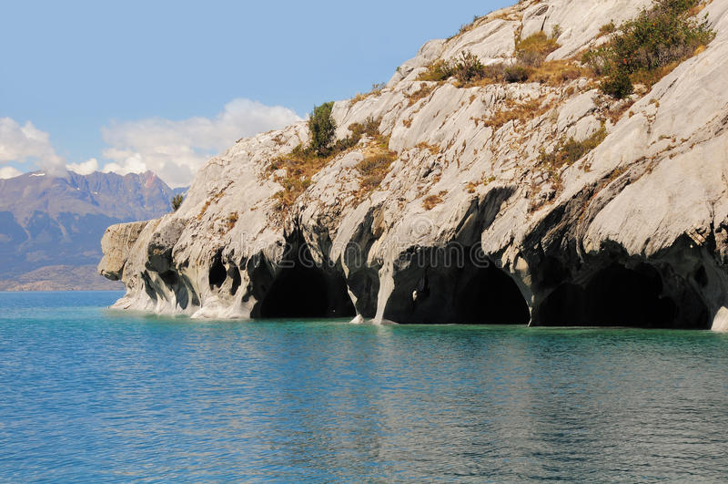 Μαρμάρινες σπηλιές. στοκ φωτογραφία με δικαίωμα ελεύθερης χρήσης