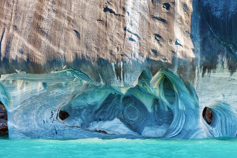 Μαρμάρινες σπηλιές, tranquilo Puerto, Παταγωνία, Χιλή στοκ φωτογραφία με δικαίωμα ελεύθερης χρήσης