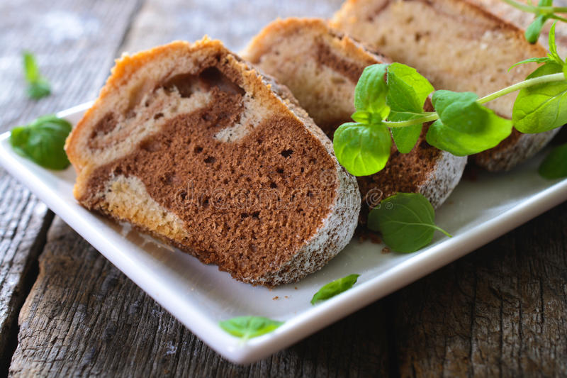 Μαρμάρινες φέτες κέικ στοκ φωτογραφία με δικαίωμα ελεύθερης χρήσης