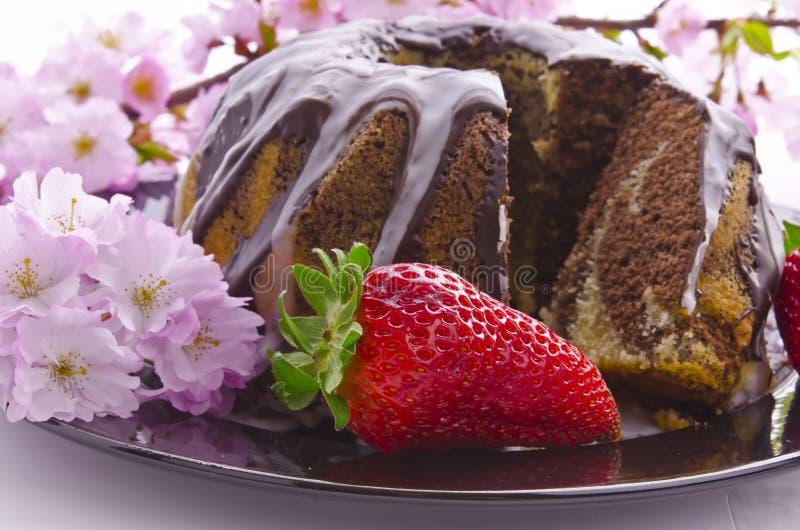 μαρμάρινη άνοιξη κέικ στοκ φωτογραφία με δικαίωμα ελεύθερης χρήσης