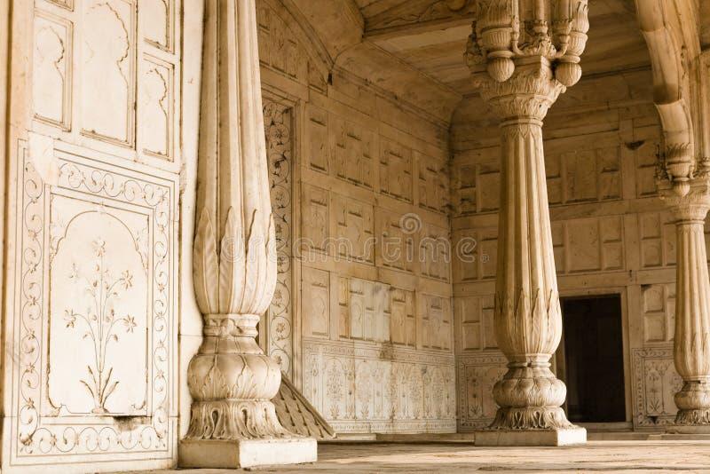Μαρμάρινη αίθουσα, κόκκινο οχυρό, Δελχί στοκ φωτογραφίες