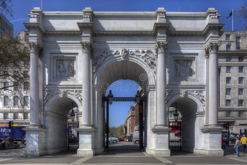 Μαρμάρινη αψίδα, Λονδίνο στοκ φωτογραφία με δικαίωμα ελεύθερης χρήσης