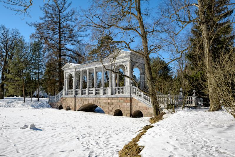 Μαρμάρινη γέφυρα (Palladian) ή σιβηρική μαρμάρινη στοά από το architec στοκ εικόνα με δικαίωμα ελεύθερης χρήσης