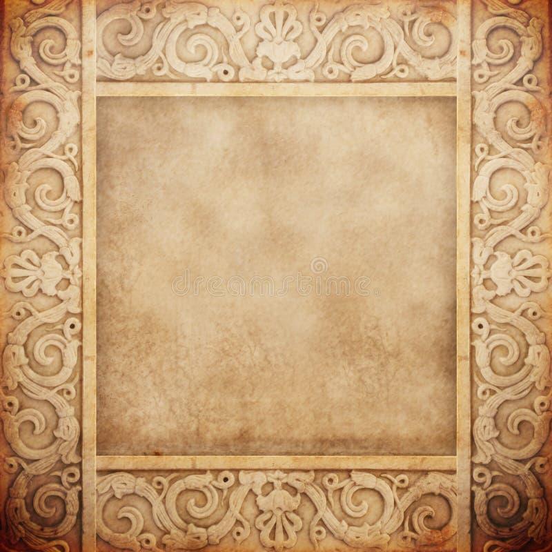 μαρμάρινος παλαιός πλαισί& στοκ φωτογραφίες