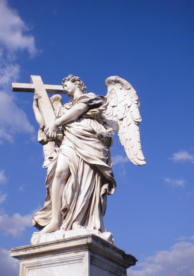 Μαρμάρινο άγαλμα του αγγέλου Bernini, Ρώμη στοκ φωτογραφίες με δικαίωμα ελεύθερης χρήσης