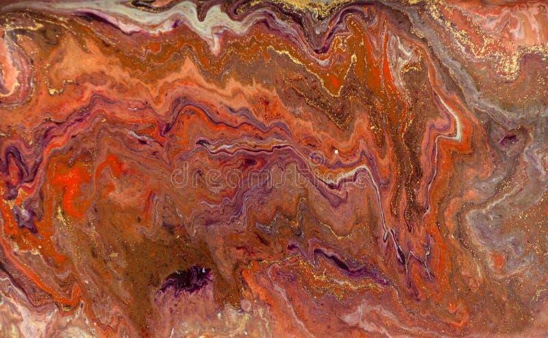 Μαρμάρινο αφηρημένο ακρυλικό υπόβαθρο Marbling σύσταση έργου τέχνης Σχέδιο κυματισμών αχατών Χρυσή σκόνη στοκ φωτογραφία με δικαίωμα ελεύθερης χρήσης