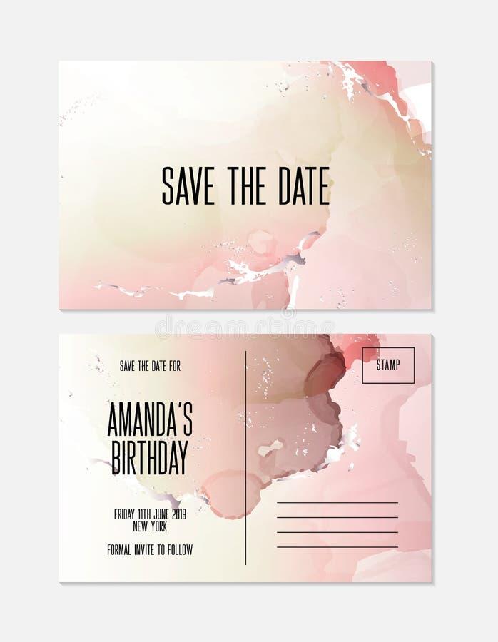 Μαρμάρινο διανυσματικό σύνολο υποβάθρου γαμήλιας κάλυψης Μαρμάρινη προσφορά με τη σύσταση Υπόβαθρο σύγχρονου σχεδίου για το γάμο, ελεύθερη απεικόνιση δικαιώματος