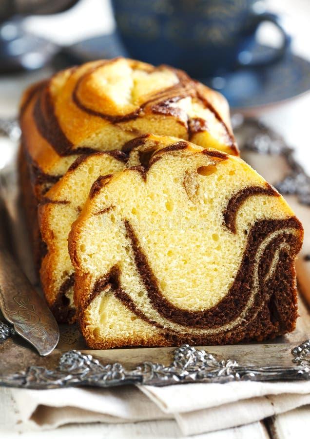 Μαρμάρινο κέικ φραντζολών στοκ φωτογραφίες