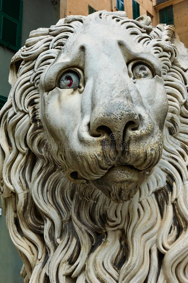 Μαρμάρινο λιοντάρι στη Γένοβα στοκ φωτογραφίες με δικαίωμα ελεύθερης χρήσης