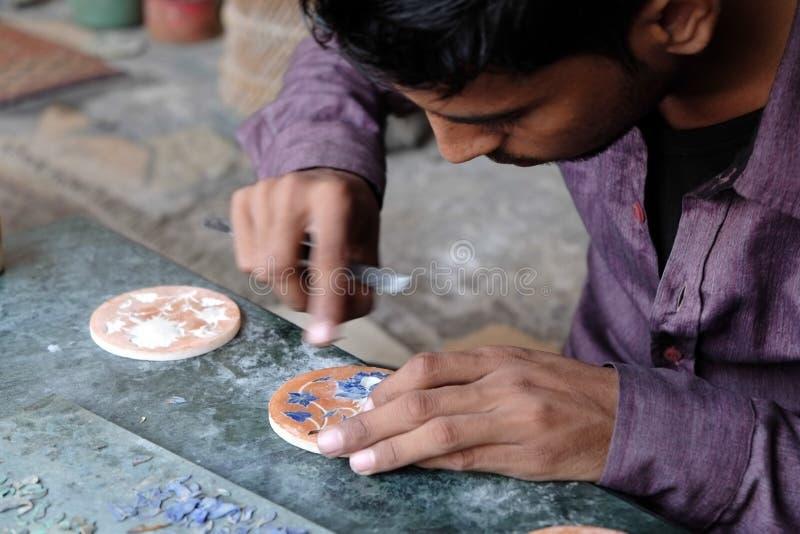 Μαρμάρινο inlay σε Agra στοκ εικόνα με δικαίωμα ελεύθερης χρήσης