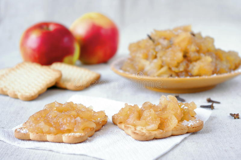 μαρμελάδα μήλων στοκ εικόνες με δικαίωμα ελεύθερης χρήσης