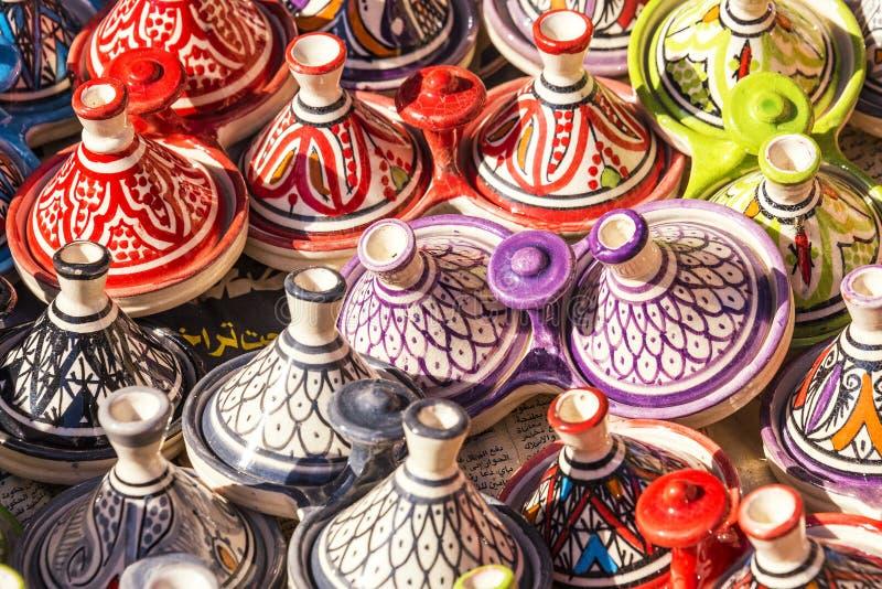 Μαροκινή αγγειοπλαστική σε Essaouira στοκ φωτογραφίες