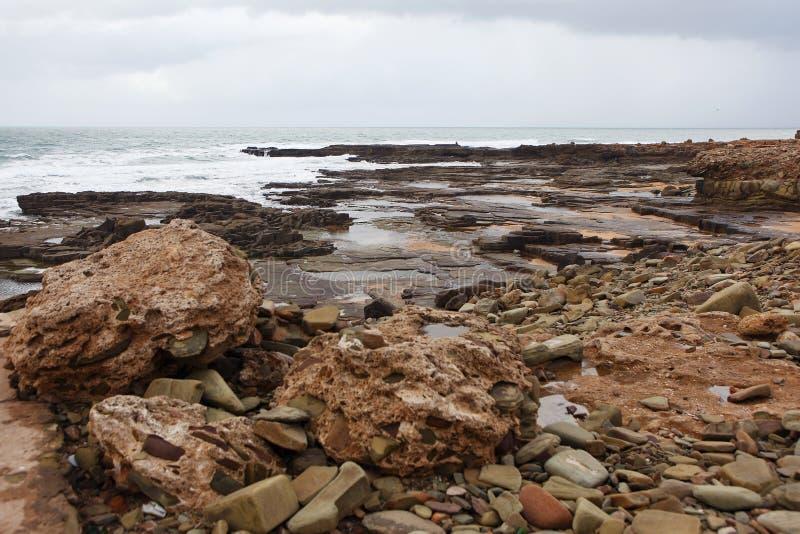 Μαροκινή ακτή σε Dar Bouazza στοκ φωτογραφίες
