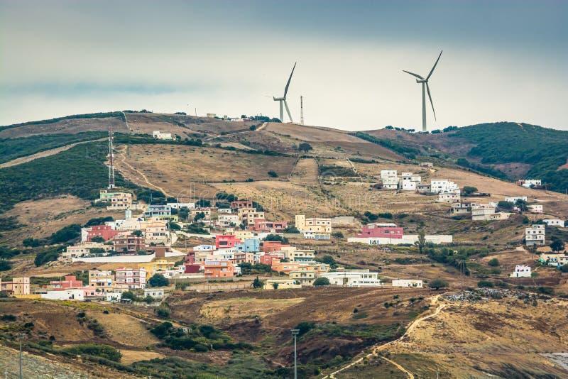 Μαροκινή ακτή στο MED Ταγγέρης, Αφρική, Μαρόκο στοκ εικόνες με δικαίωμα ελεύθερης χρήσης