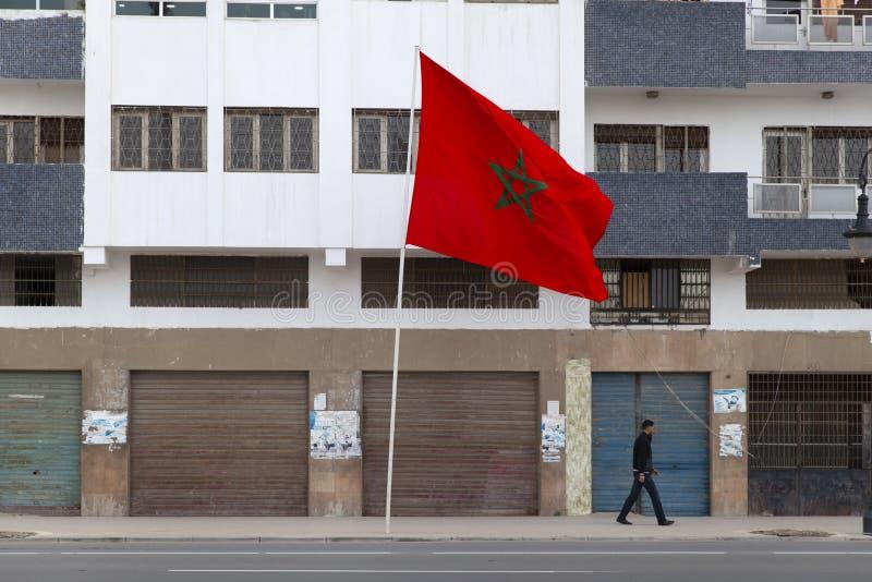 Μαροκινός κυματισμός σημαιών στοκ εικόνες