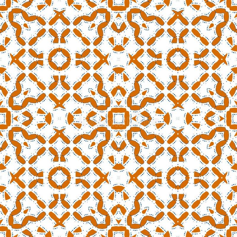 Μαροκινό πορτοκαλί κεραμίδι - πορτοκαλί άνευ ραφής σχέδιο διανυσματική απεικόνιση