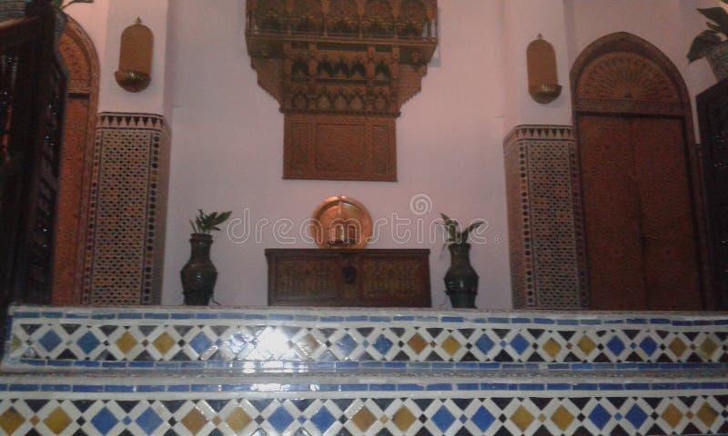 Μαροκινό σχέδιο αρχιτεκτόνων στοκ εικόνα με δικαίωμα ελεύθερης χρήσης