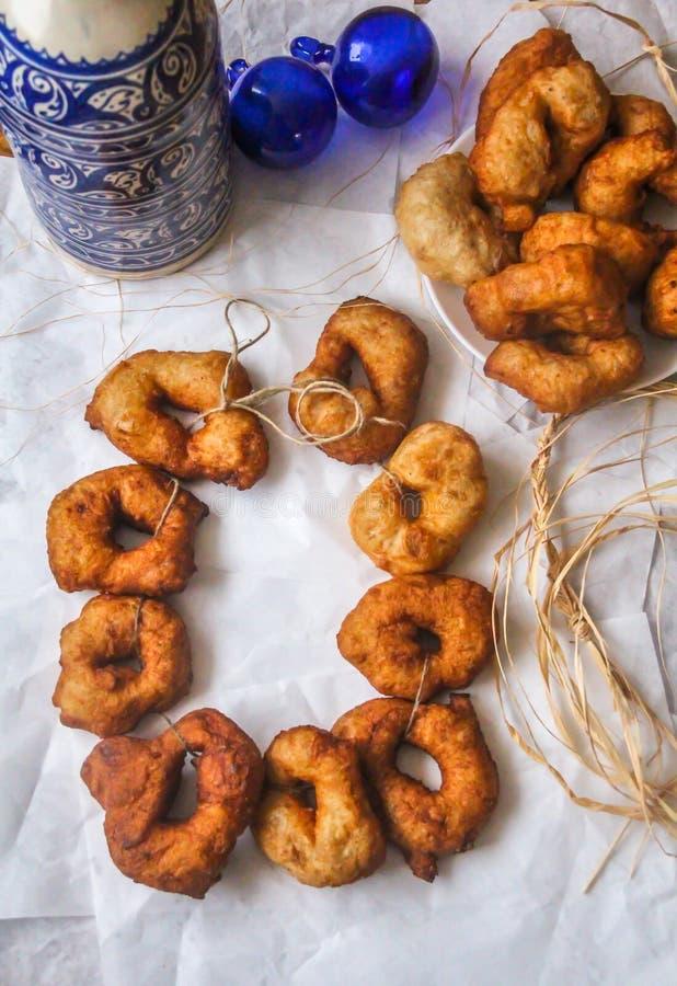 """Μαροκινό Donuts - """"Sfenj """"που τρώεται επίσης στις διακοπές Hanuka στοκ φωτογραφία με δικαίωμα ελεύθερης χρήσης"""