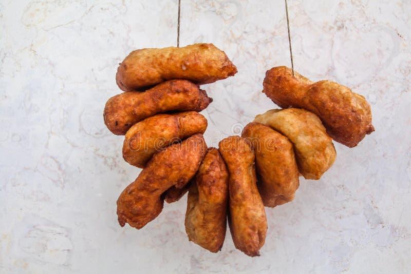 """Μαροκινό Donuts - """"Sfenj """"που τρώεται επίσης στις διακοπές Hanuka στοκ φωτογραφίες με δικαίωμα ελεύθερης χρήσης"""