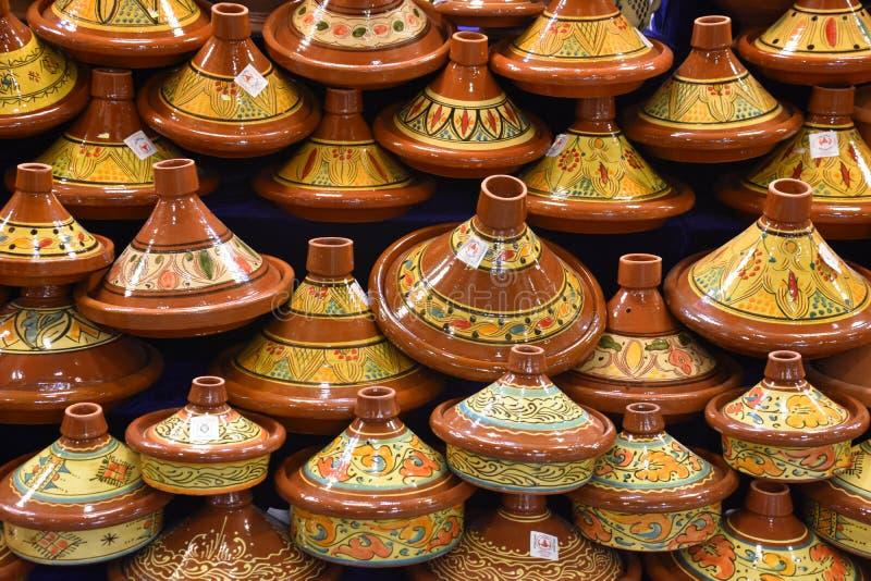 Μαροκινό Tagines στοκ φωτογραφία με δικαίωμα ελεύθερης χρήσης