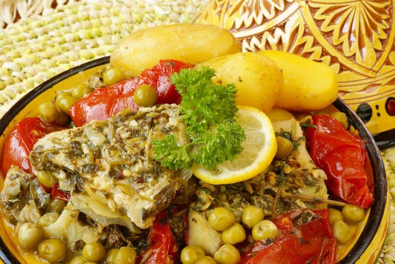 μαροκινό tajine ψαριών chermoula στοκ φωτογραφίες με δικαίωμα ελεύθερης χρήσης