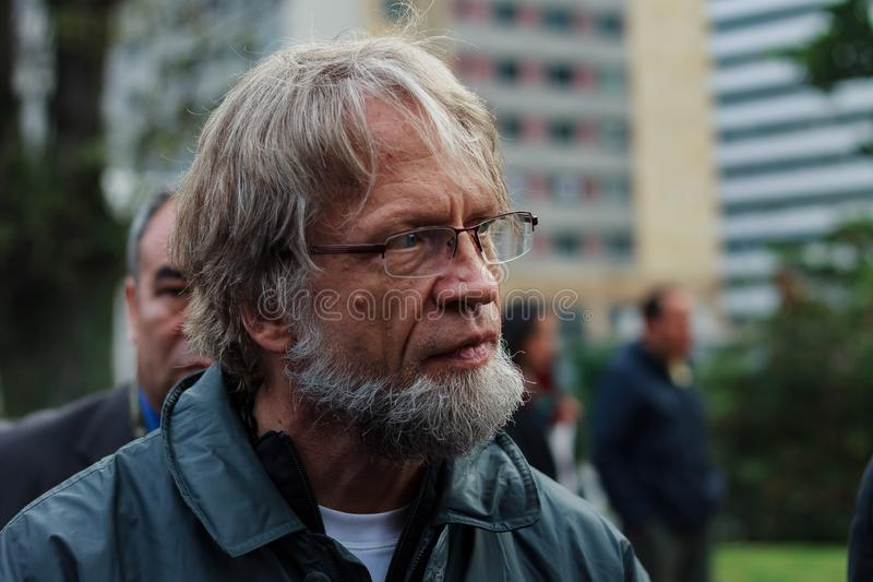 18 Μαρτίου 2019 - αρμοδιότητα Μαρτίου για την υπεράσπιση του JEP, ειδική για την ειρήνη Bogotà ¡ Κολομβία στοκ φωτογραφίες