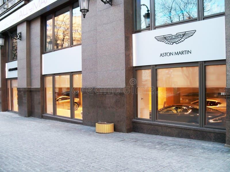 5 Μαρτίου 2011, Κίεβο, Ουκρανία Έμπορος του Άστον Martin στοκ εικόνα
