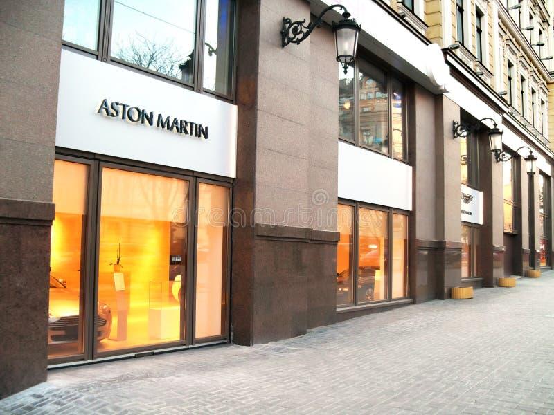 5 Μαρτίου 2011, Κίεβο, Ουκρανία Έμπορος του Άστον Martin στοκ φωτογραφίες