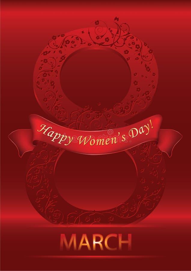 8 Μαρτίου - υπόβαθρο ημέρας των γυναικών ελεύθερη απεικόνιση δικαιώματος