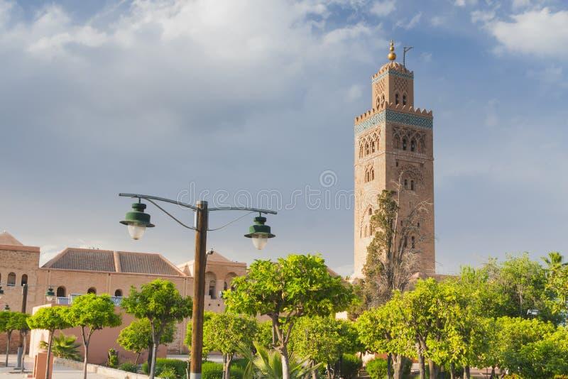 Μαρόκο, Μαρακές, μιναρές μουσουλμανικών τεμενών Koutubia στοκ εικόνα με δικαίωμα ελεύθερης χρήσης