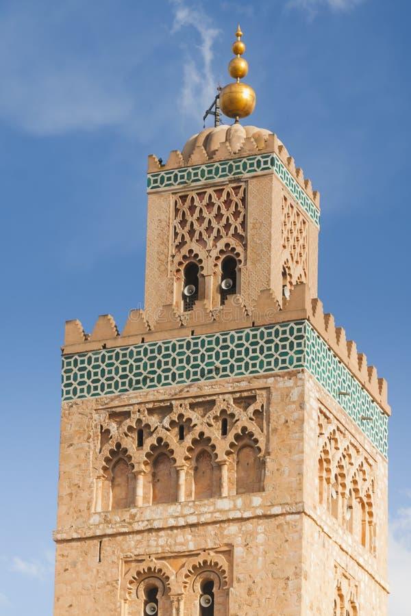 Μαρόκο, Μαρακές, μιναρές μουσουλμανικών τεμενών Koutubia στοκ φωτογραφίες