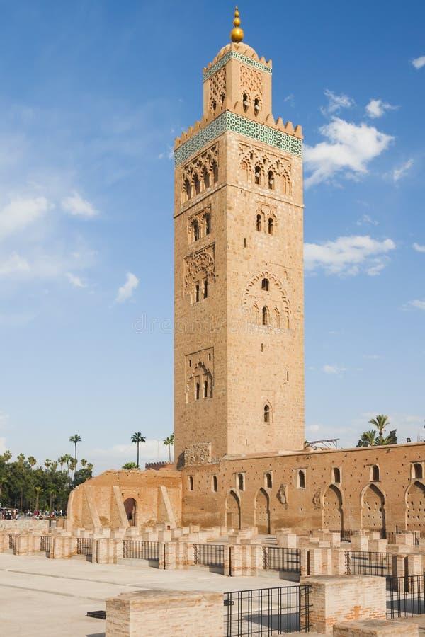 Μαρόκο, Μαρακές, μιναρές μουσουλμανικών τεμενών Koutubia στοκ φωτογραφία με δικαίωμα ελεύθερης χρήσης