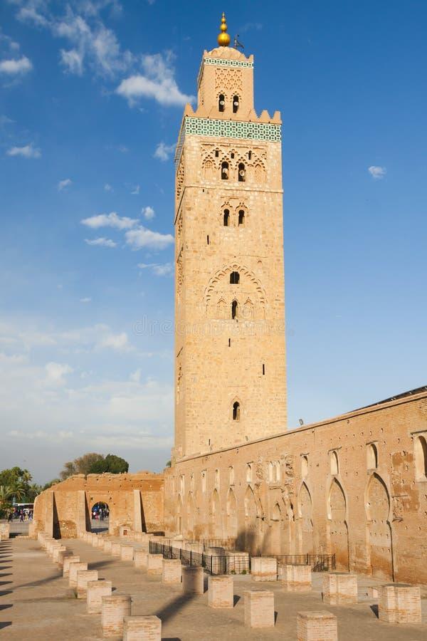 Μαρόκο, Μαρακές, μιναρές μουσουλμανικών τεμενών Koutubia στοκ εικόνες με δικαίωμα ελεύθερης χρήσης