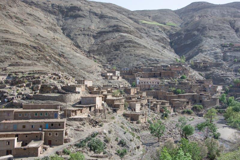 Μαρόκο, Μαρακές, σπίτια στην έρημο, με το γήινο χρώμα στοκ φωτογραφίες με δικαίωμα ελεύθερης χρήσης