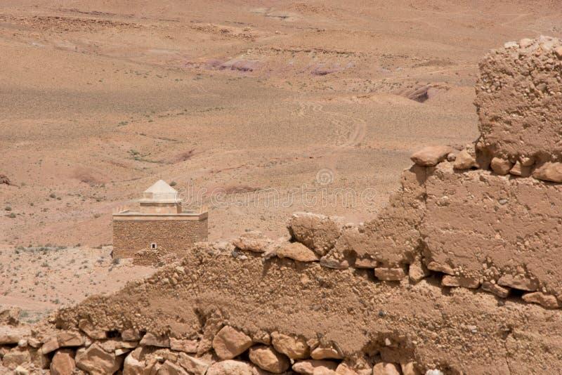 Μαρόκο, Μαρακές, σπίτια στην έρημο στοκ εικόνες