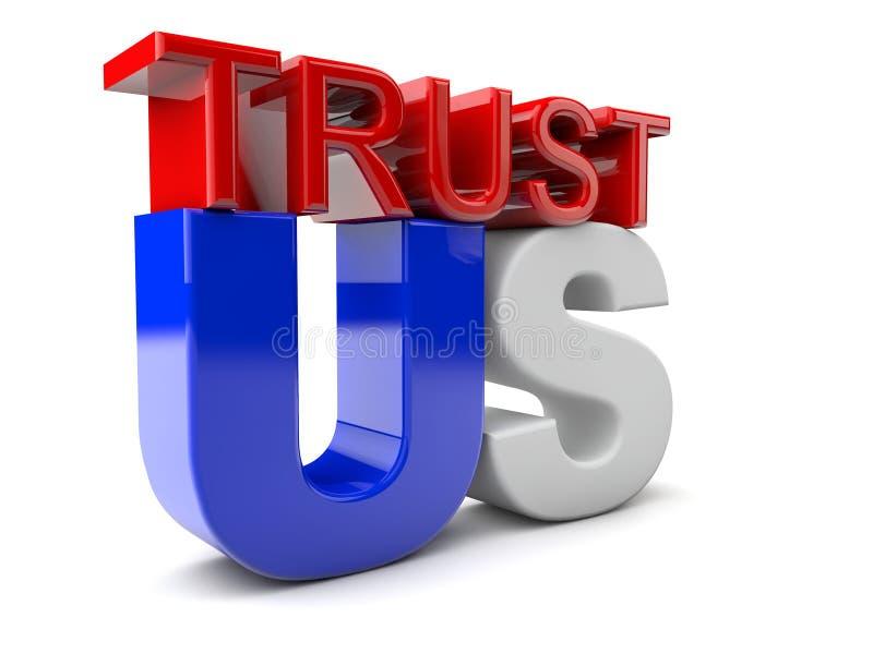 Μας εμπιστευθείτε διανυσματική απεικόνιση