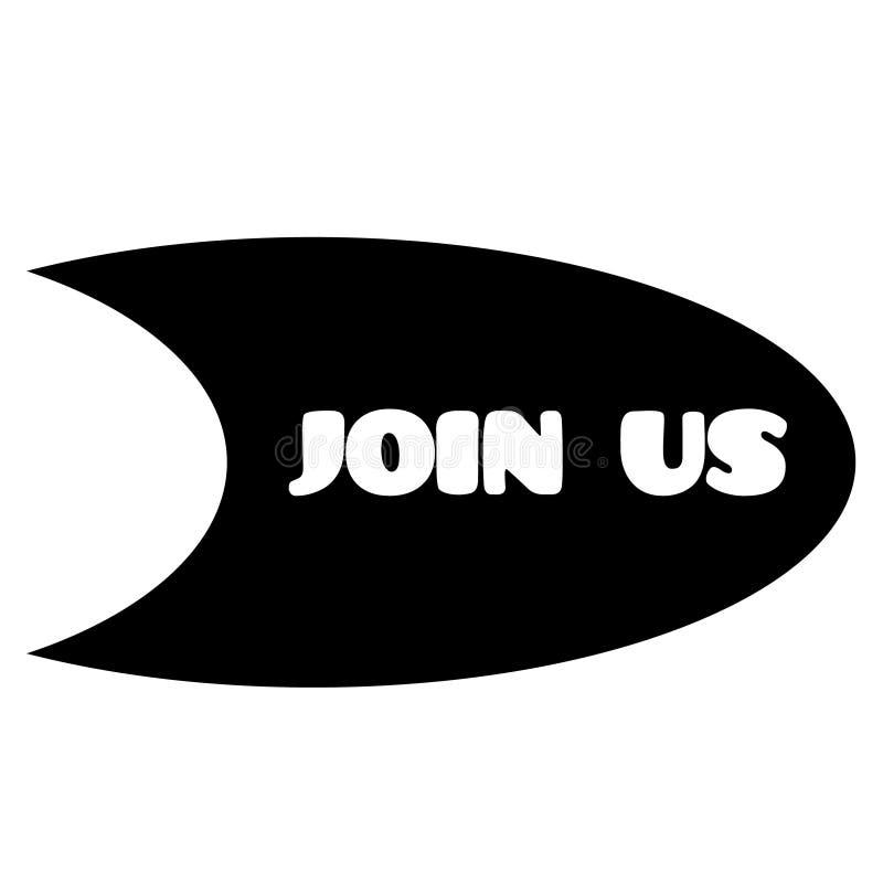 Μας ενώστε γραμματόσημο στο λευκό ελεύθερη απεικόνιση δικαιώματος