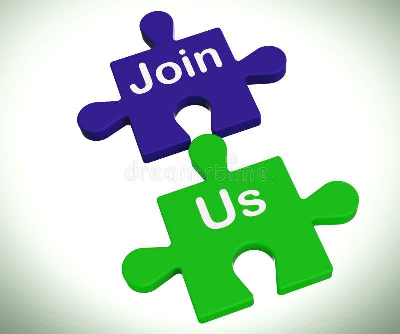 Μας ενώστε κατάλογος μέσων γρίφων ή γίνετε μέλος διανυσματική απεικόνιση
