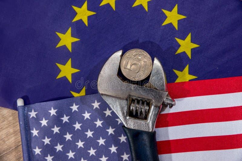 μας σημαιοστολίστε Σημαία Ευρωπαϊκής Κοινότητας στοκ φωτογραφία με δικαίωμα ελεύθερης χρήσης
