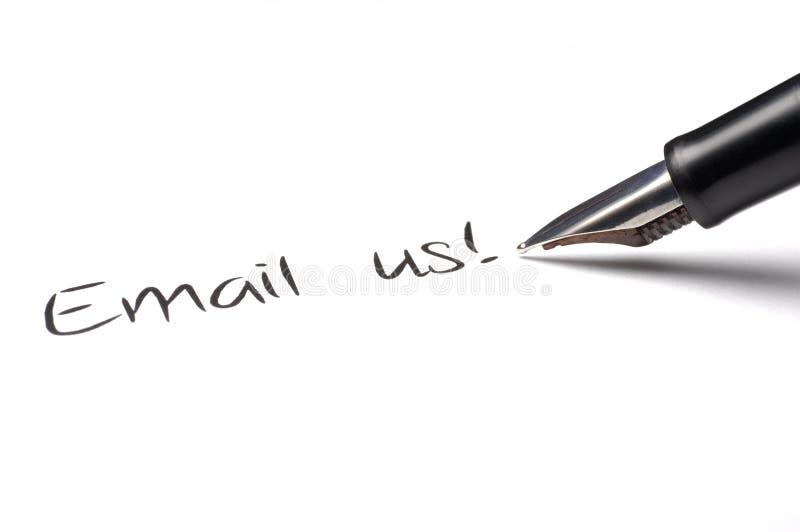 μας στείλετε μήνυμα με το ηλεκτρονικό ταχυδρομείο στοκ εικόνα με δικαίωμα ελεύθερης χρήσης